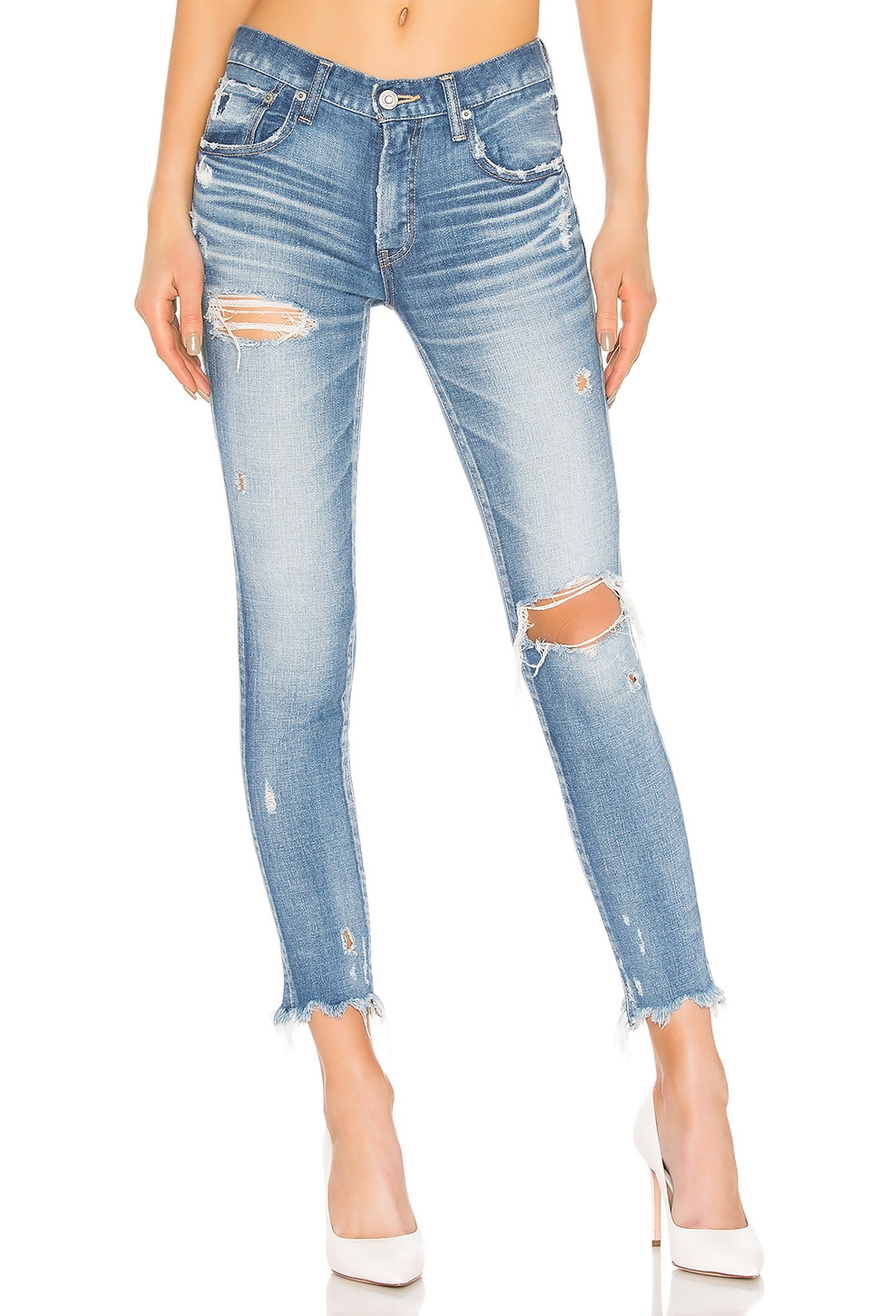 Moussy Vintage Ridgewood Skinny in Light Blue