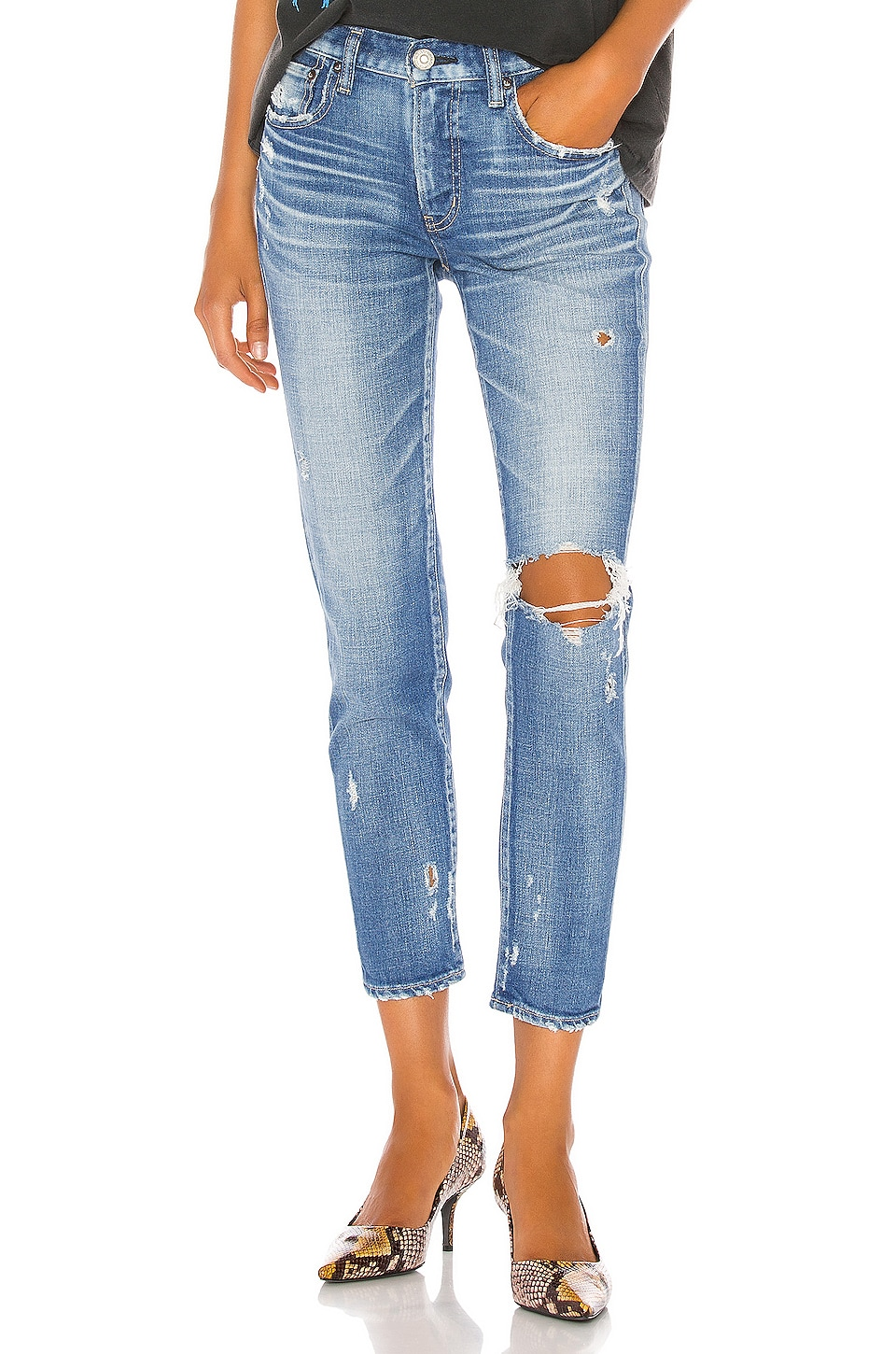 Moussy Vintage Helendale Skinny in Light Blue