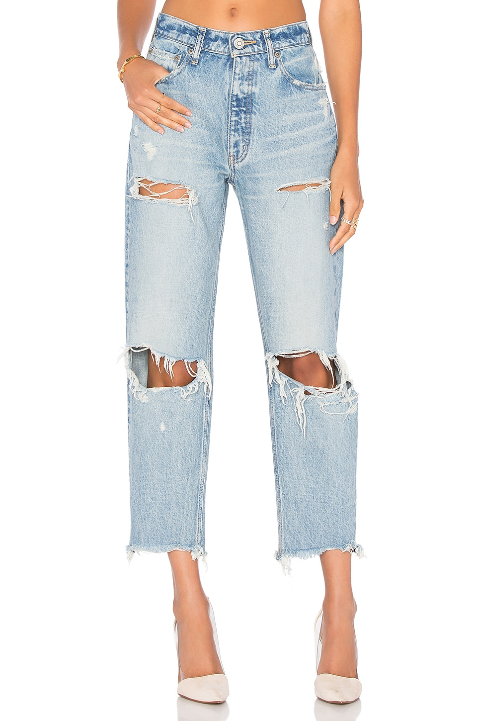 Moussy JEAN DROIT DISTRESSED
