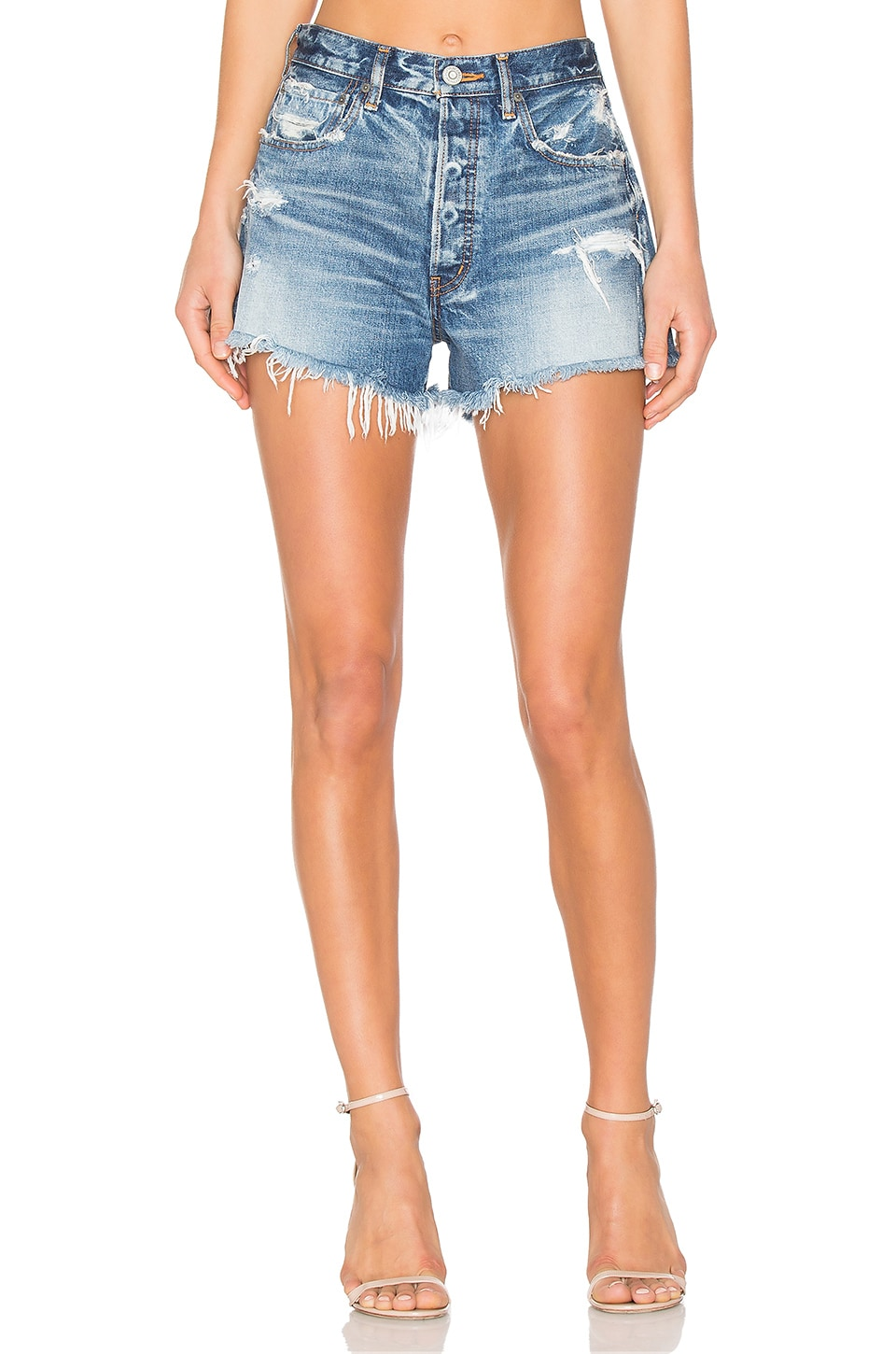 MOUSSY Sunnyside Cut Off Short in Blue
