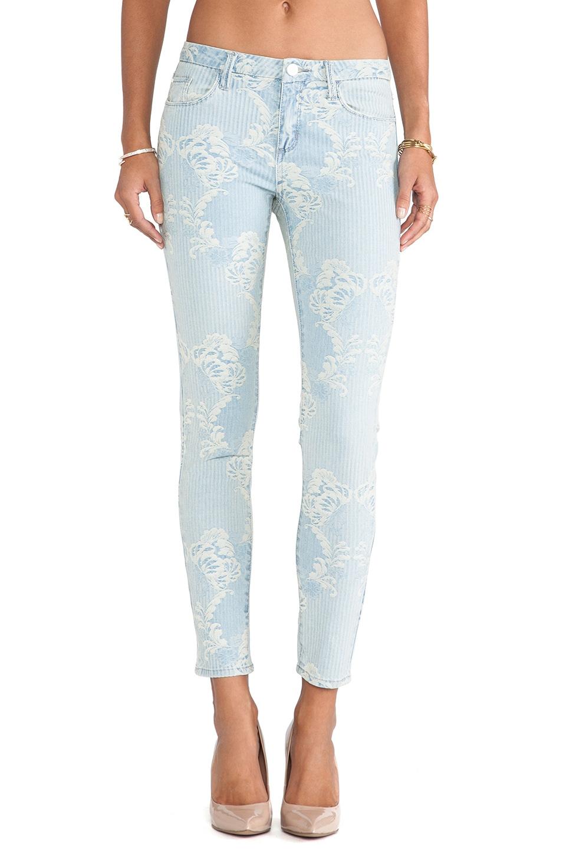 Marchesa Voyage Brocade Skinny Jean in Floral Brocade