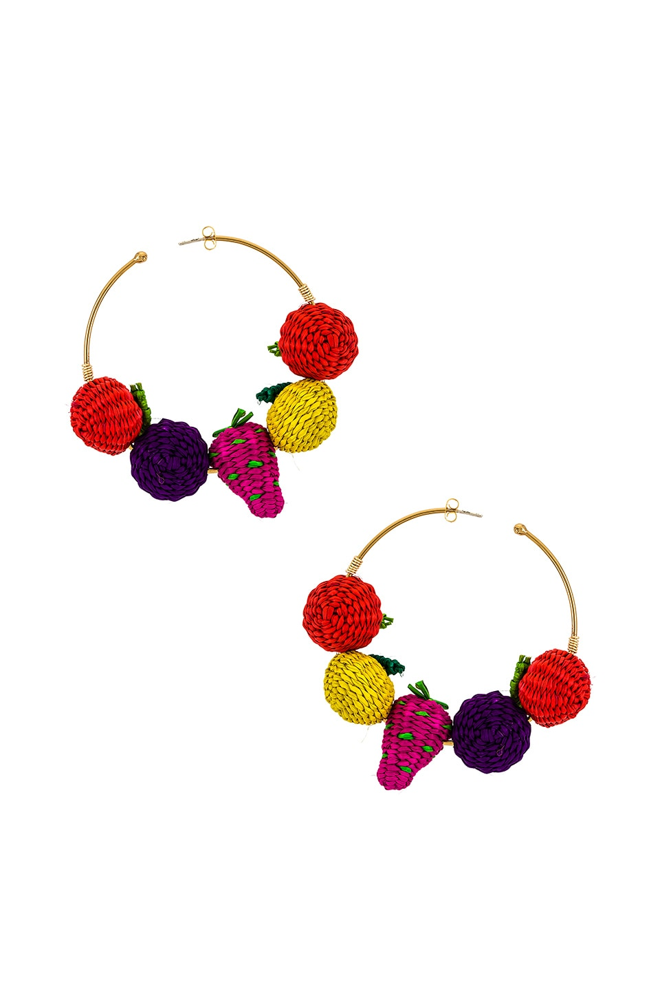 Mercedes Salazar Fruit Hoops in Multi