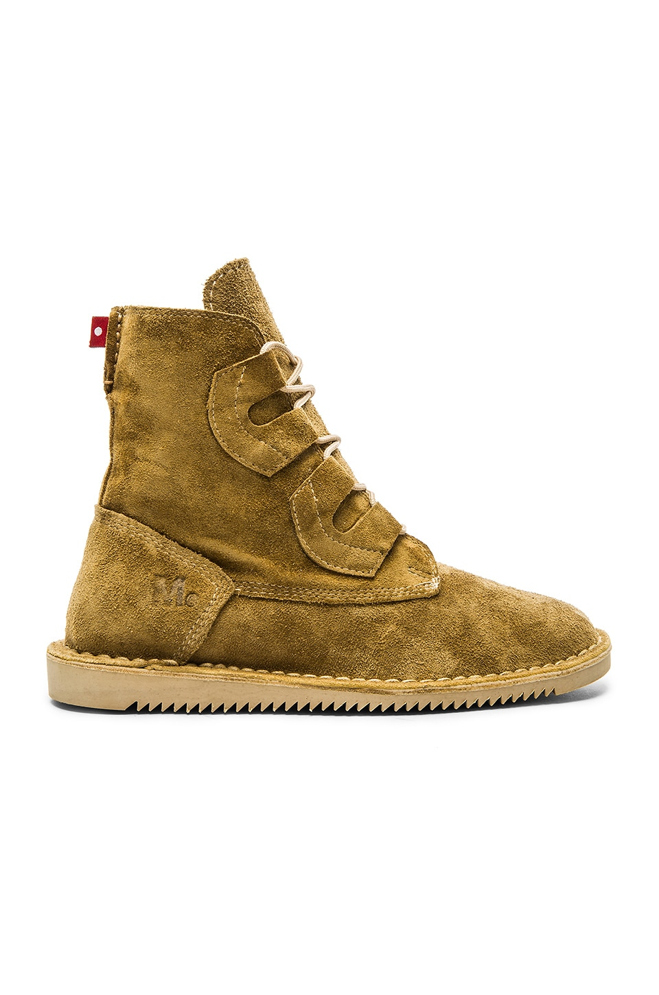 fdd46ce0fae Mark McNairy New Amsterdam x Oliberte Tall Lace Boot in Tan Suede ...