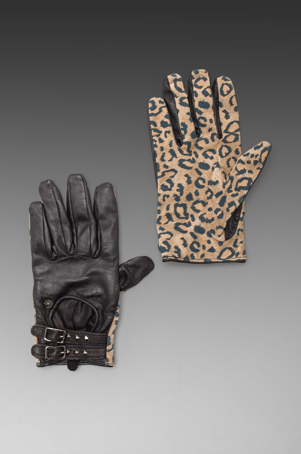 Maison Scotch Gloves in Leopard