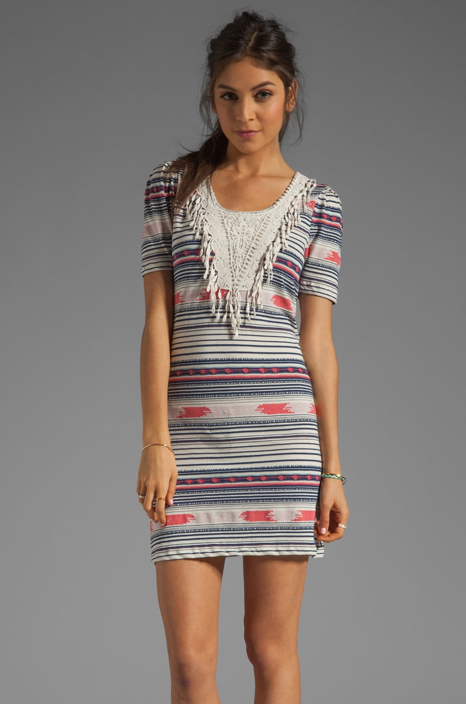 Maison Scotch Fringe Dress in Multi Stripe