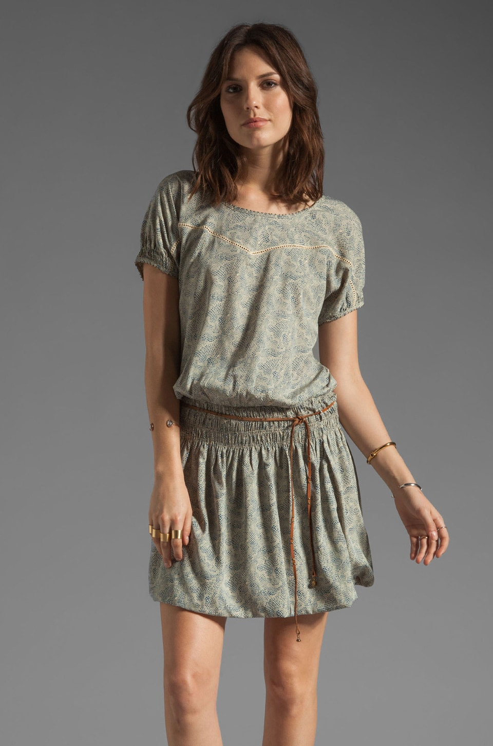 Maison Scotch Sweetheart Dress in Blue Print