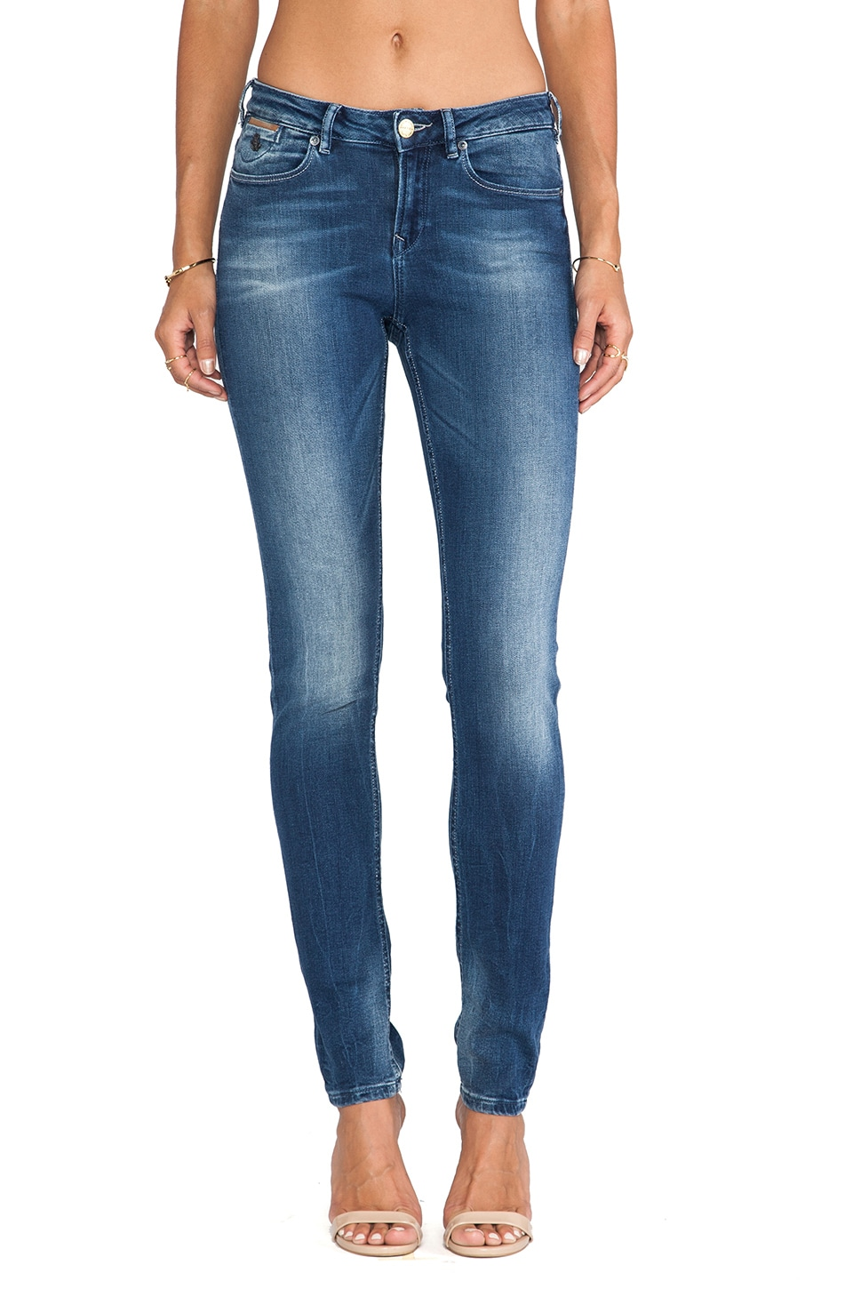 Maison Scotch Parisienne Skinny in Med Denim