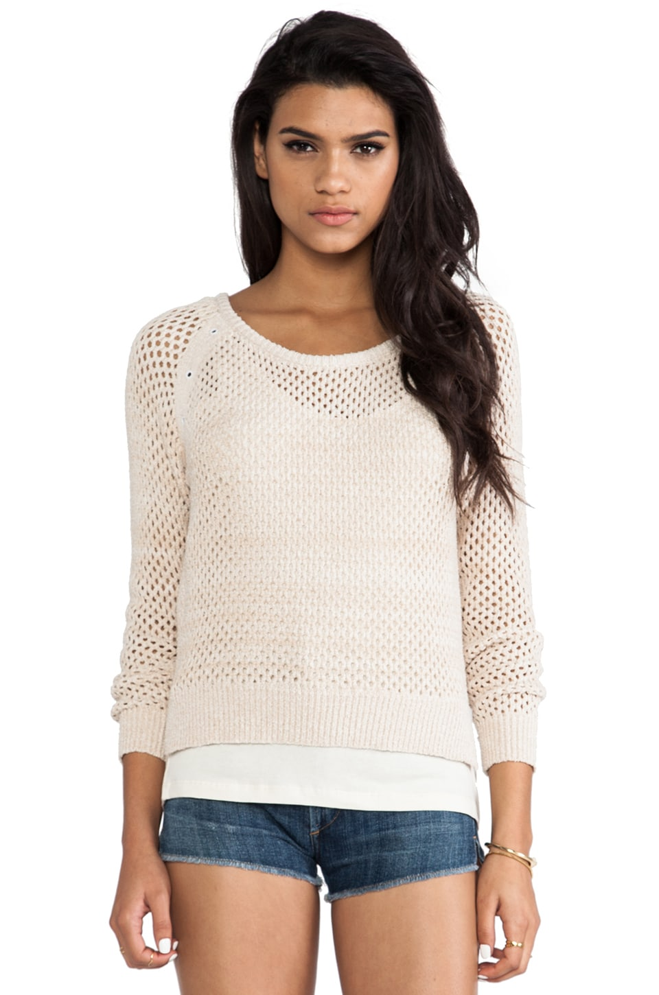 Maison Scotch 2-1 Sweater and Tank in Cream
