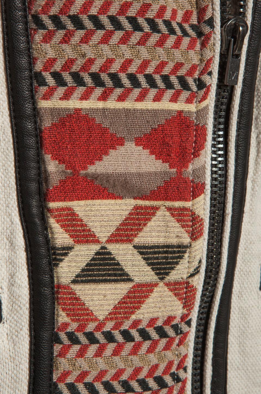 Maison Scotch Washed Linen Vest in Khaki