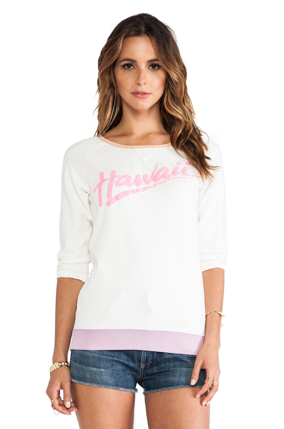 Maison Scotch Hawaii Sweatshirt in Pale