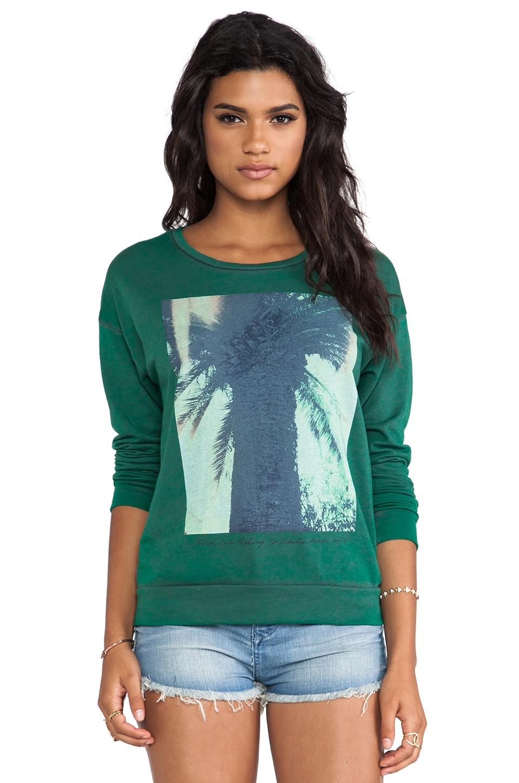 Maison Scotch Tropical Sweatshirt in Green