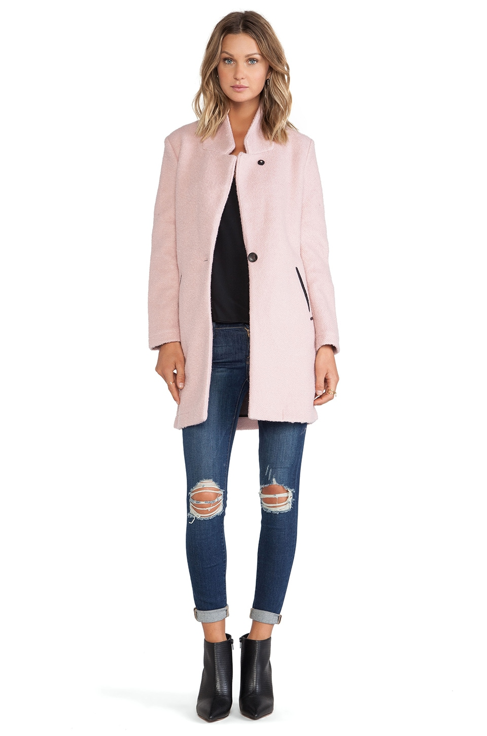 Maison Scotch Classic Tailored Jacket in Light Pink | REVOLVE