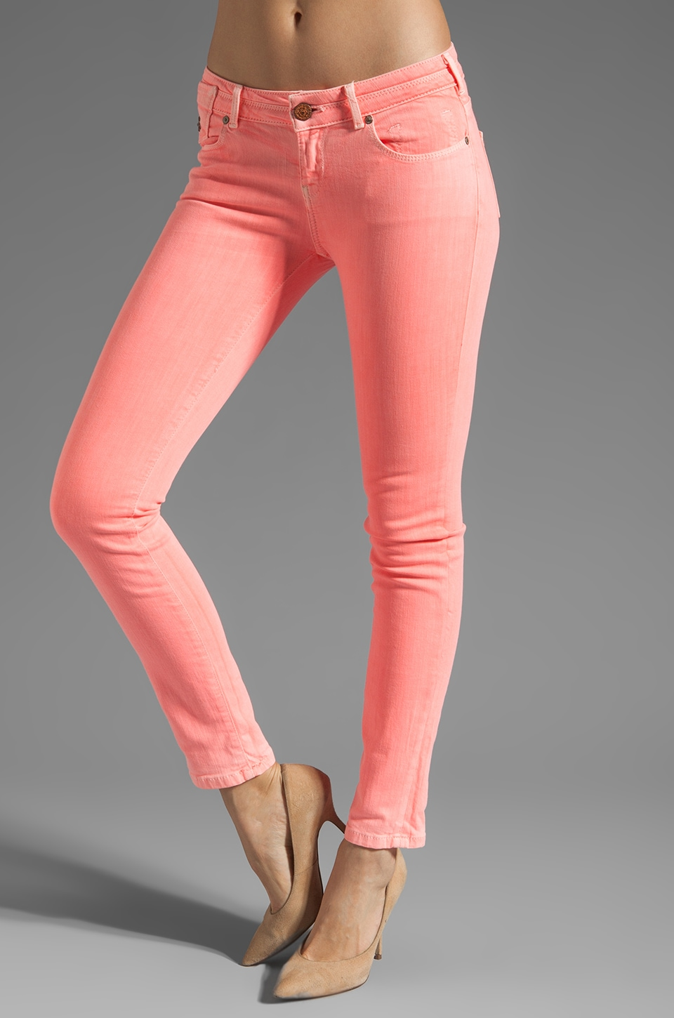 Maison Scotch Parisienne Skinny Jean in Hot Pink