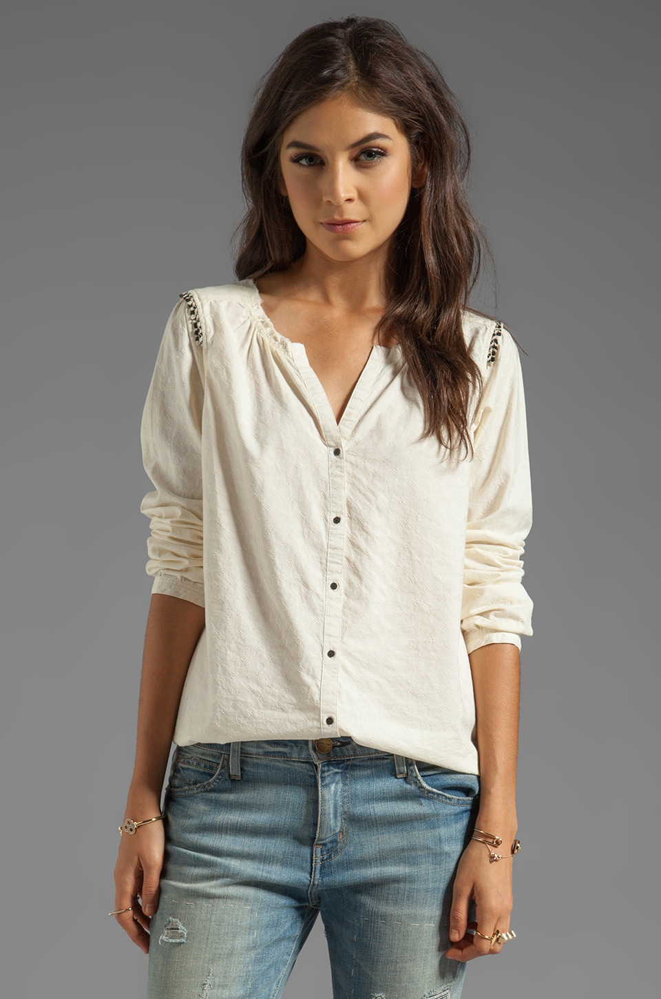 Maison Scotch Woven Blouse in Cream
