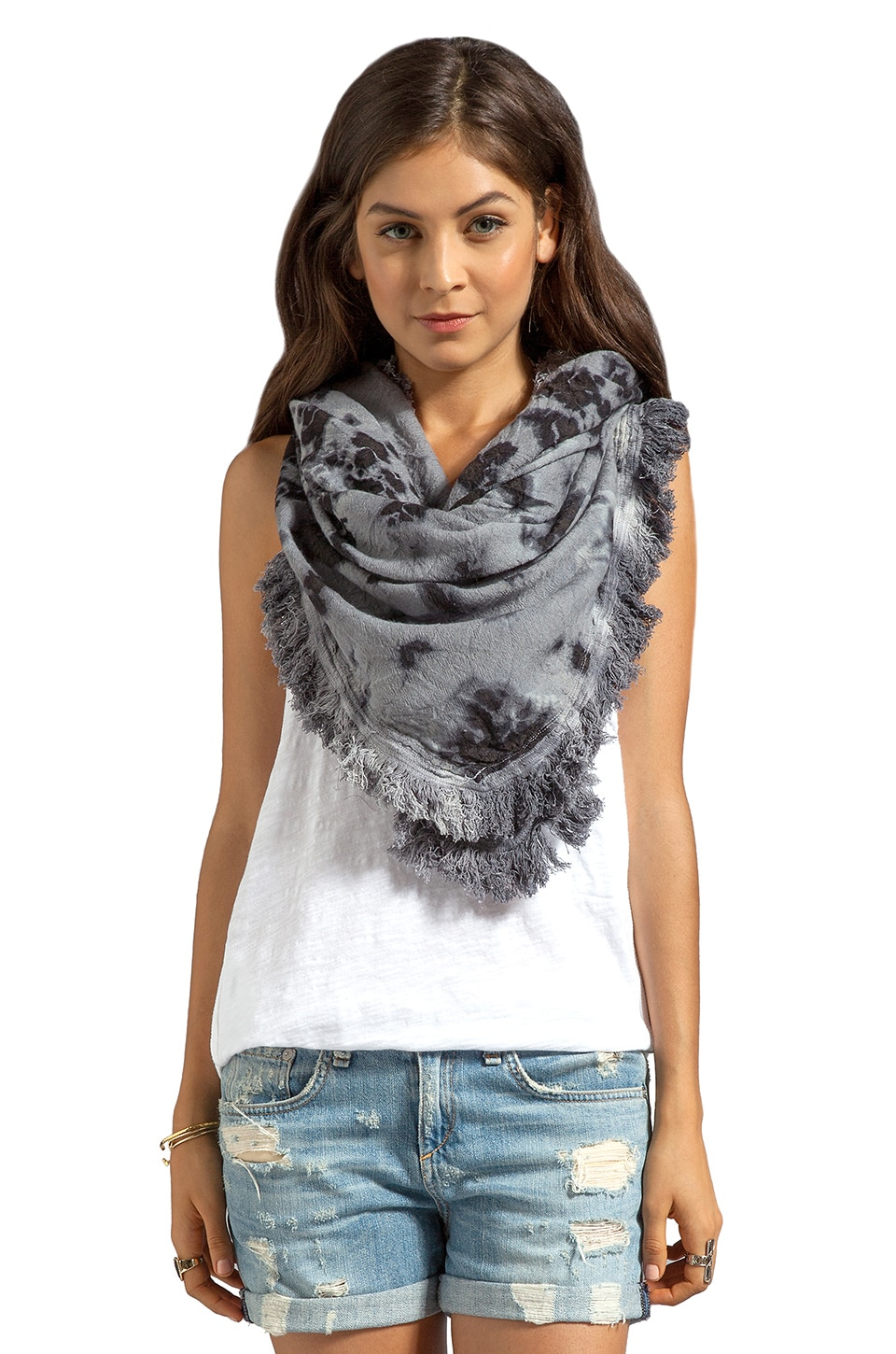 Maison Scotch Star Scarf in Tie Dye