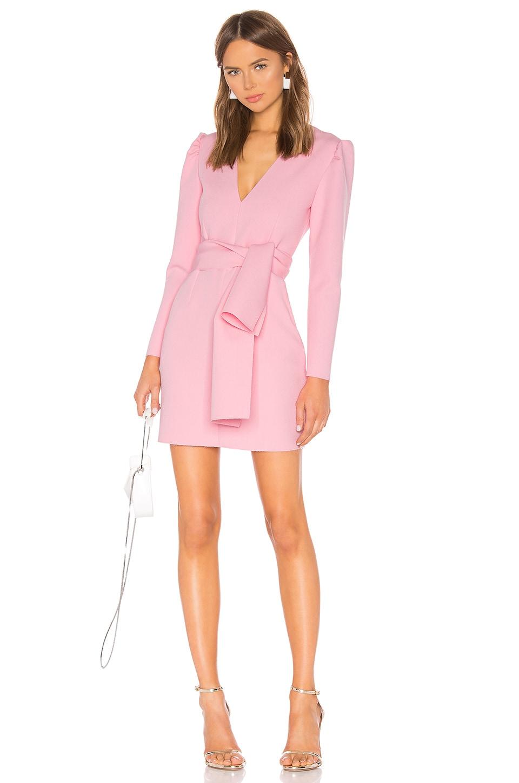 MSGM Tie Front Mini Dress in Pink