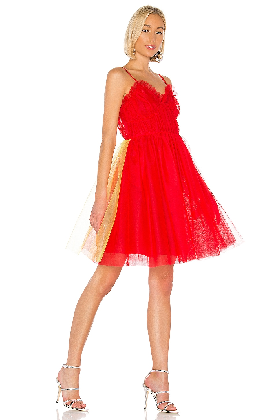 MSGM Fit and Flare Dress in Red