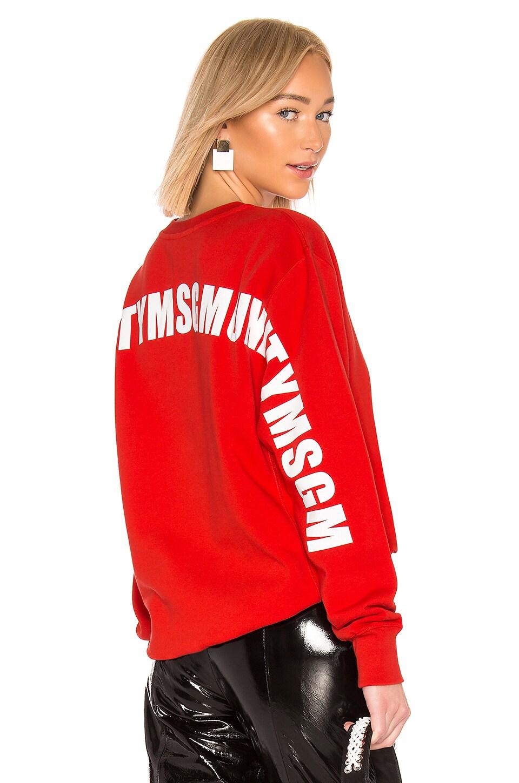 MSGM Identity Sweatshirt in Red