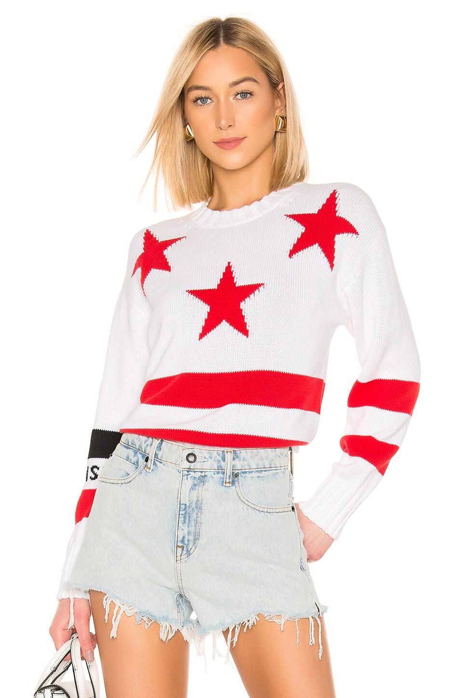 MSGM Star Sweater in Black & White
