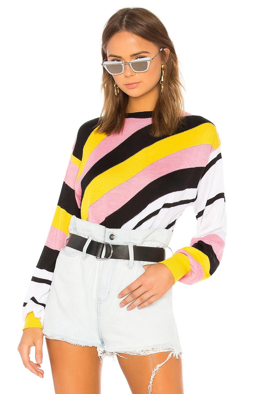 MSGM Merino Knit Sweater in Regimental Stripe