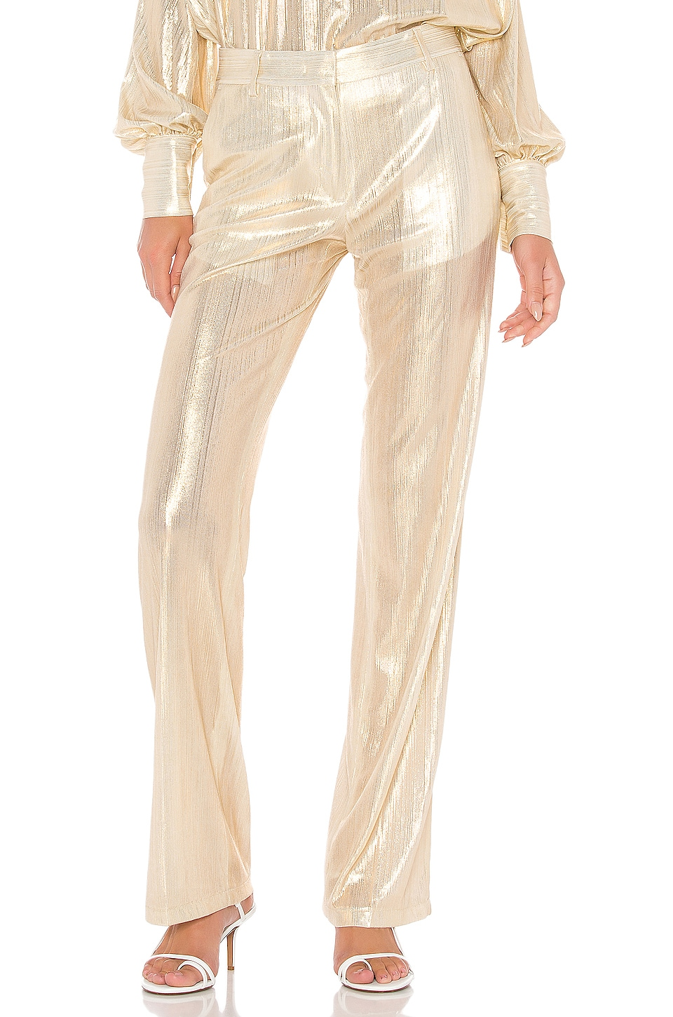 MSGM Pants in Gold