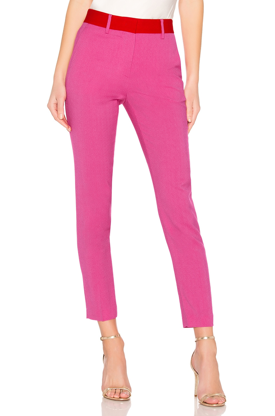 MSGM Slim Trousers in Hot Pink