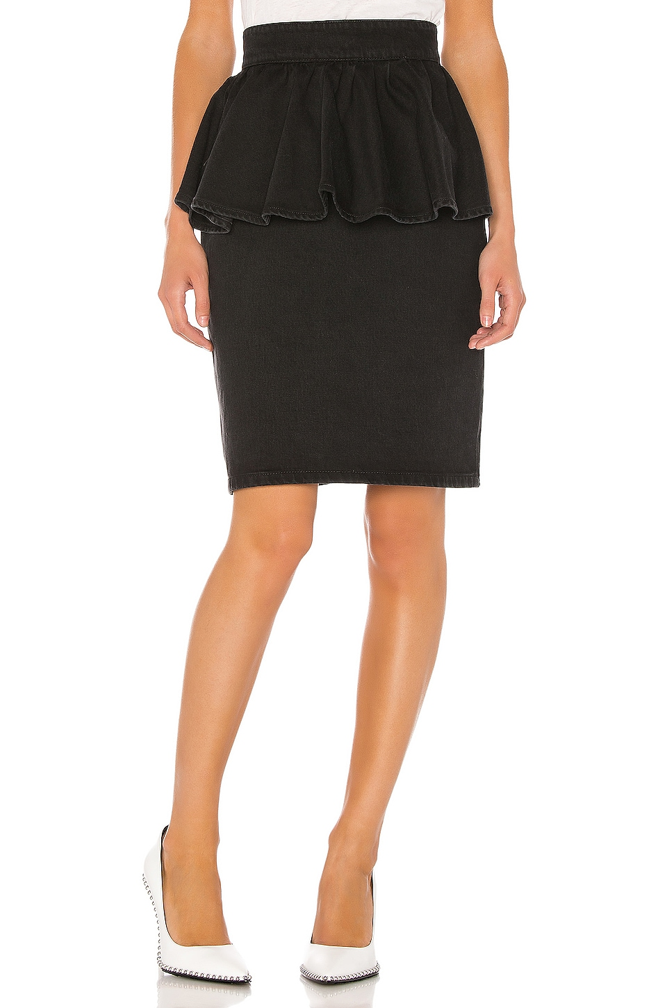 MSGM Peplum Skirt in Black