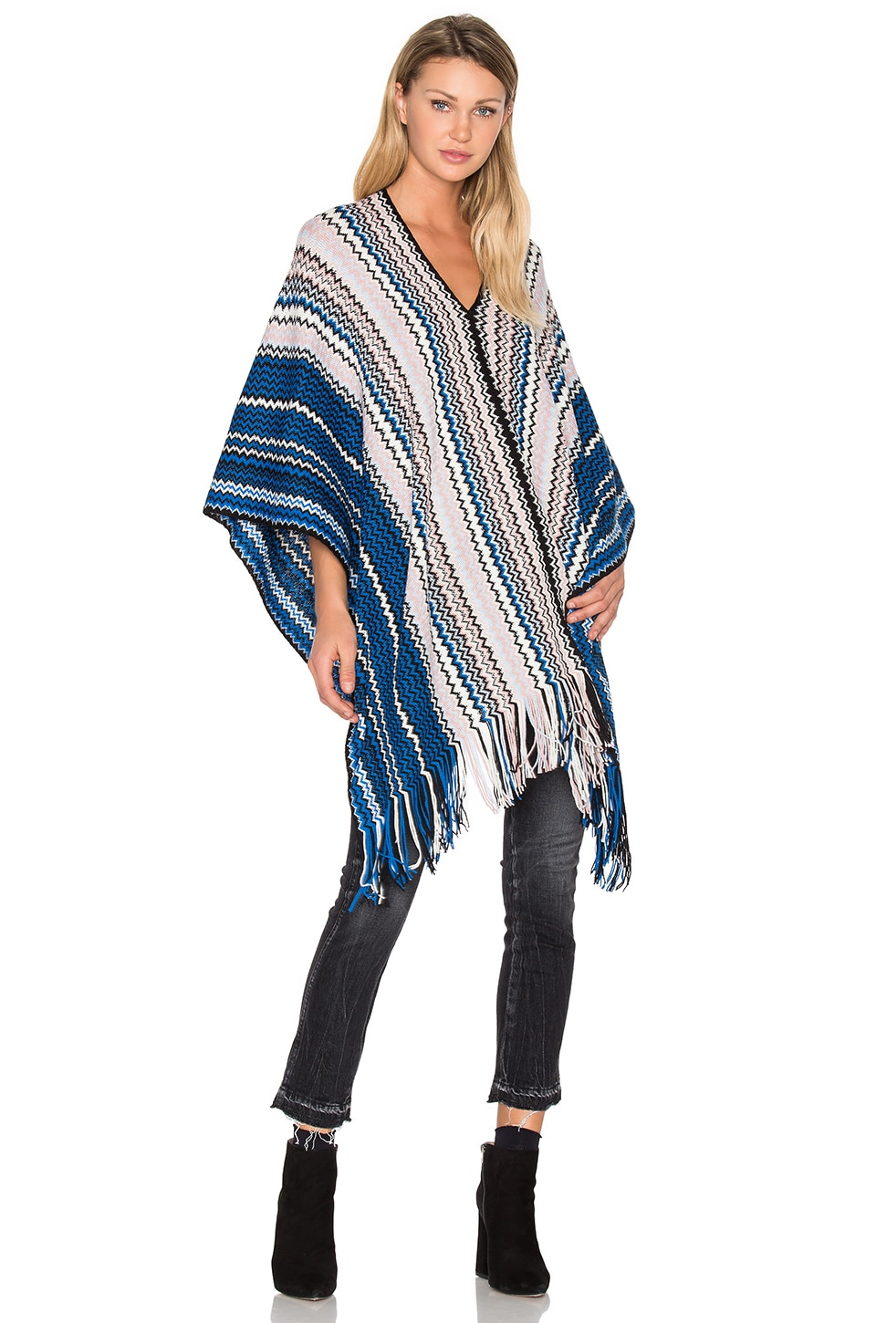Missoni Zig Zag Poncho in Multi