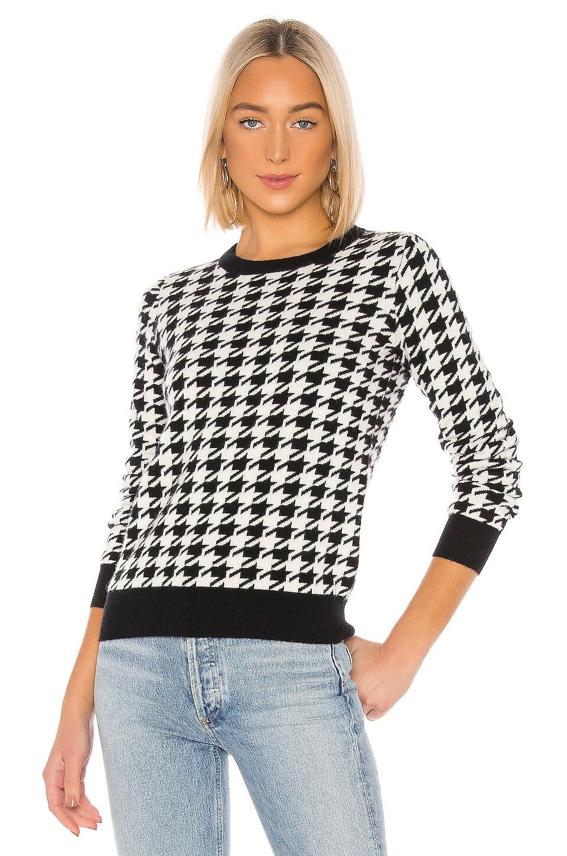 MADELEINE THOMPSON Happy Pullover in Black & White Houndstooth