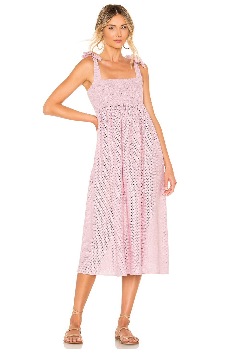 Marysia Swim Sicily Smocked Dress in Lavender