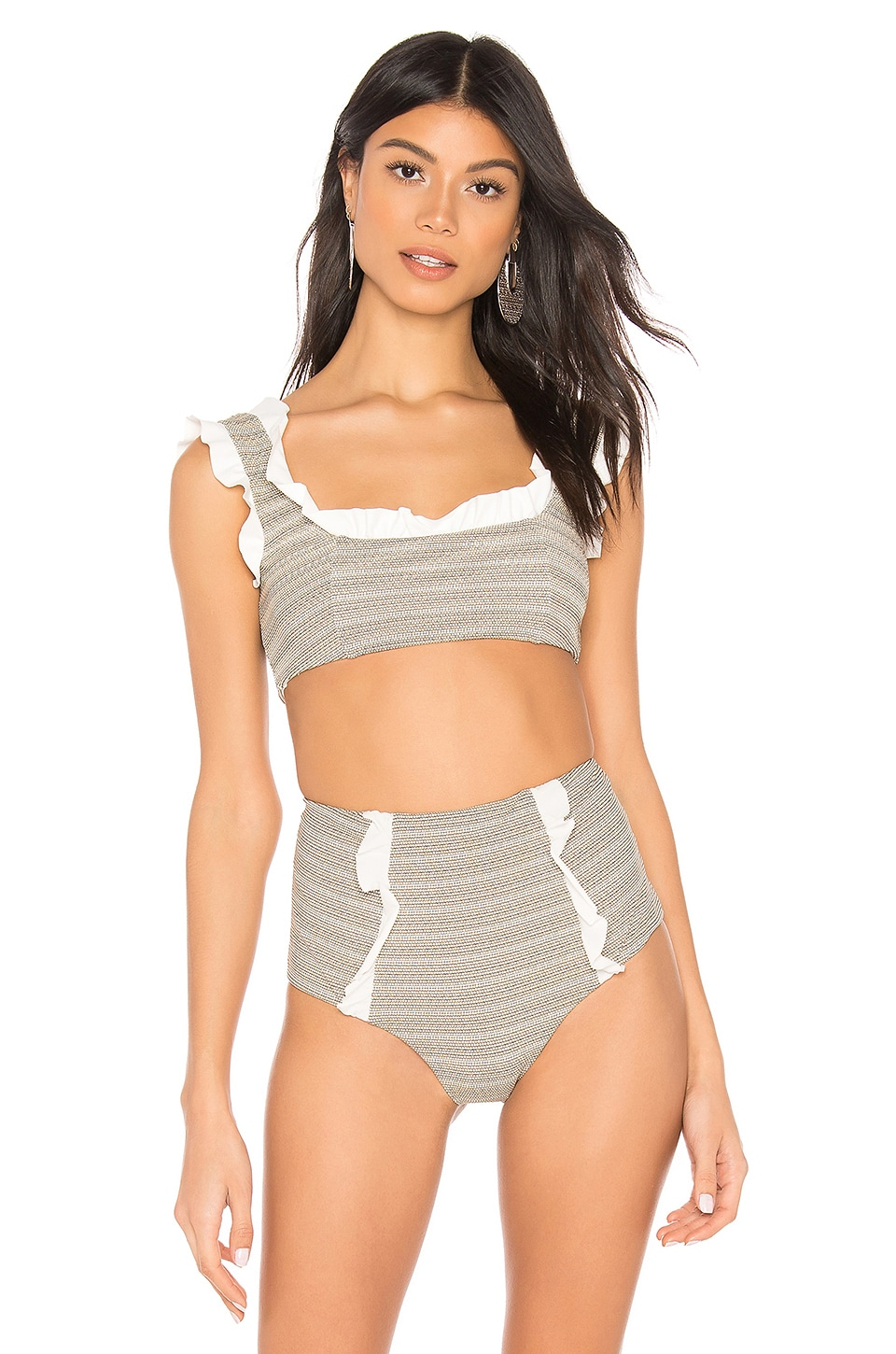 Marysia Swim Kayenta Top in Brick Print