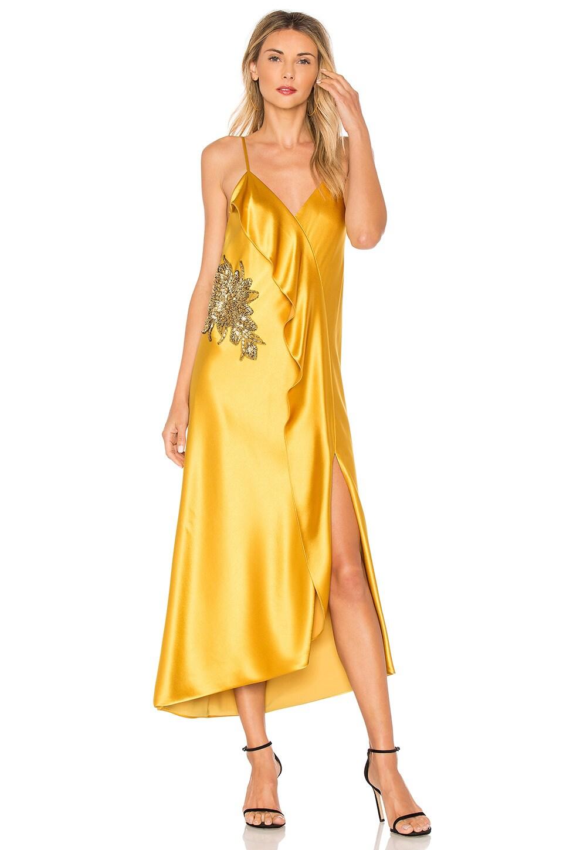Natalia Ruffle Midi Dress