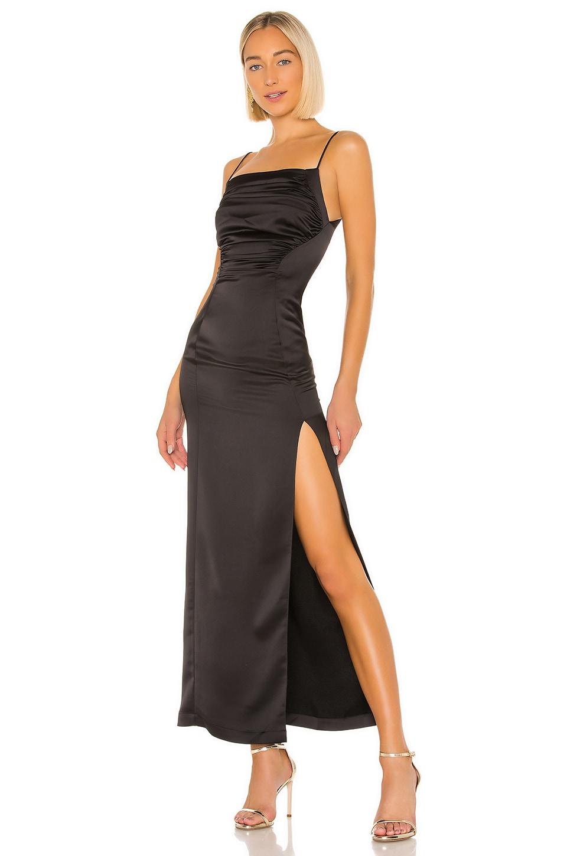 MATERIEL Satin Gown in Black