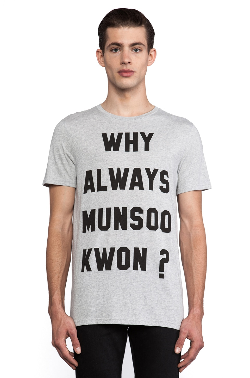 Munsoo Kwon Why Always Tee in Light Gray