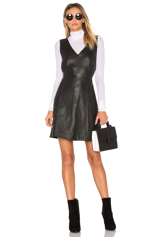 Muubaa Handley V Neck Dress in Black