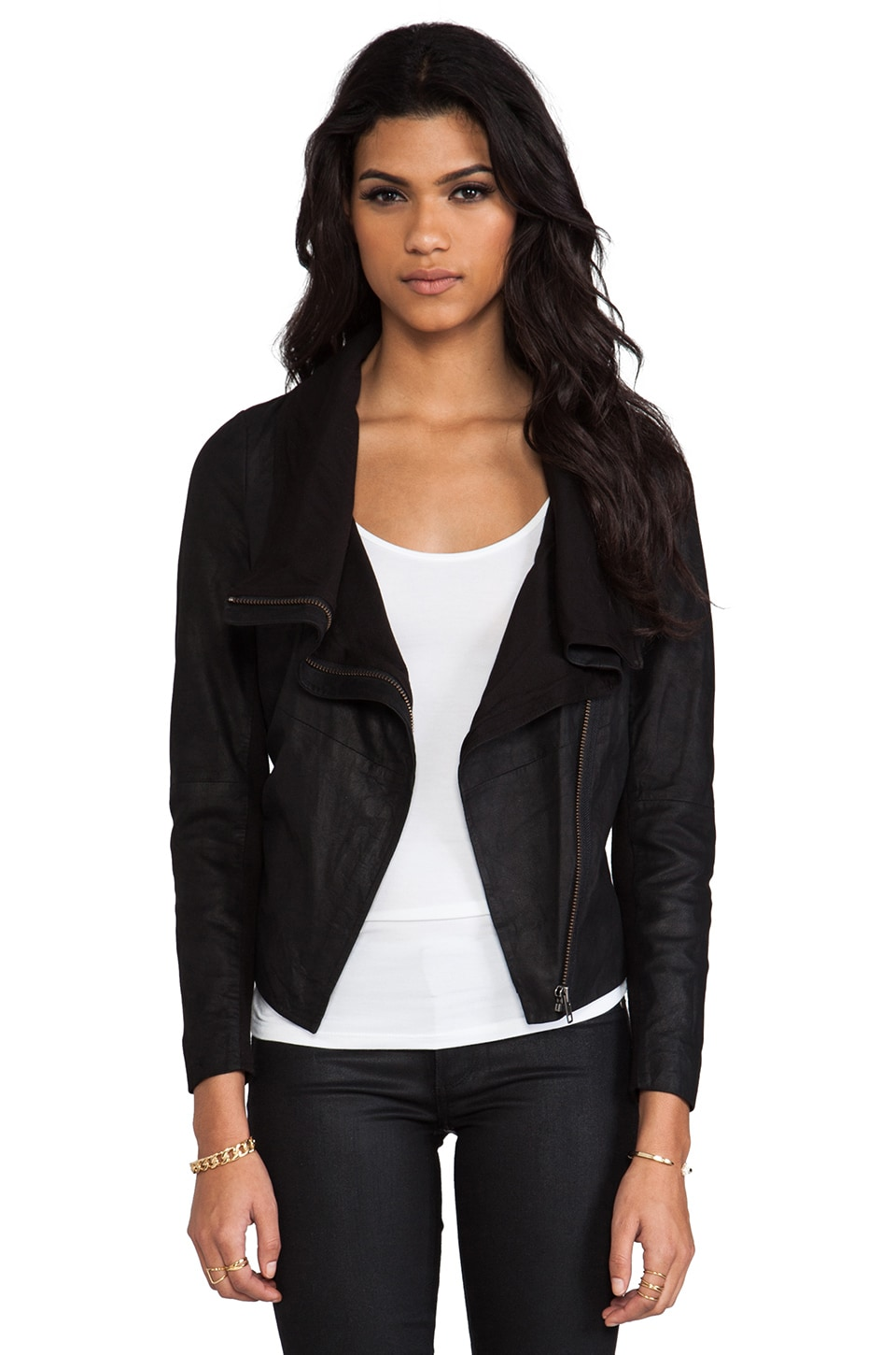 Muubaa Sinoia Drape Jacket in Black