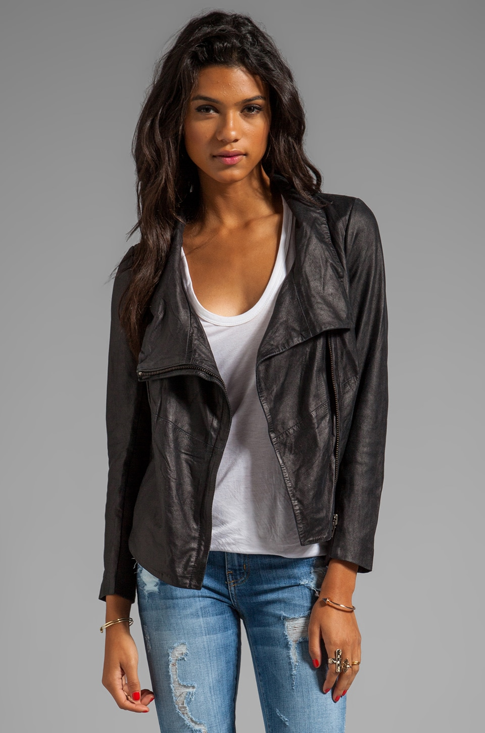Muubaa Prome Cowl Neck Jacket in Diesel