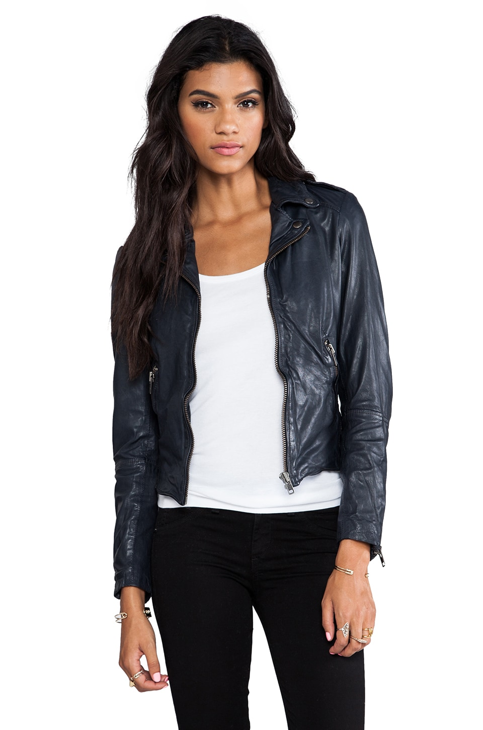 Muubaa Sabi Biker Jacket in Midnight