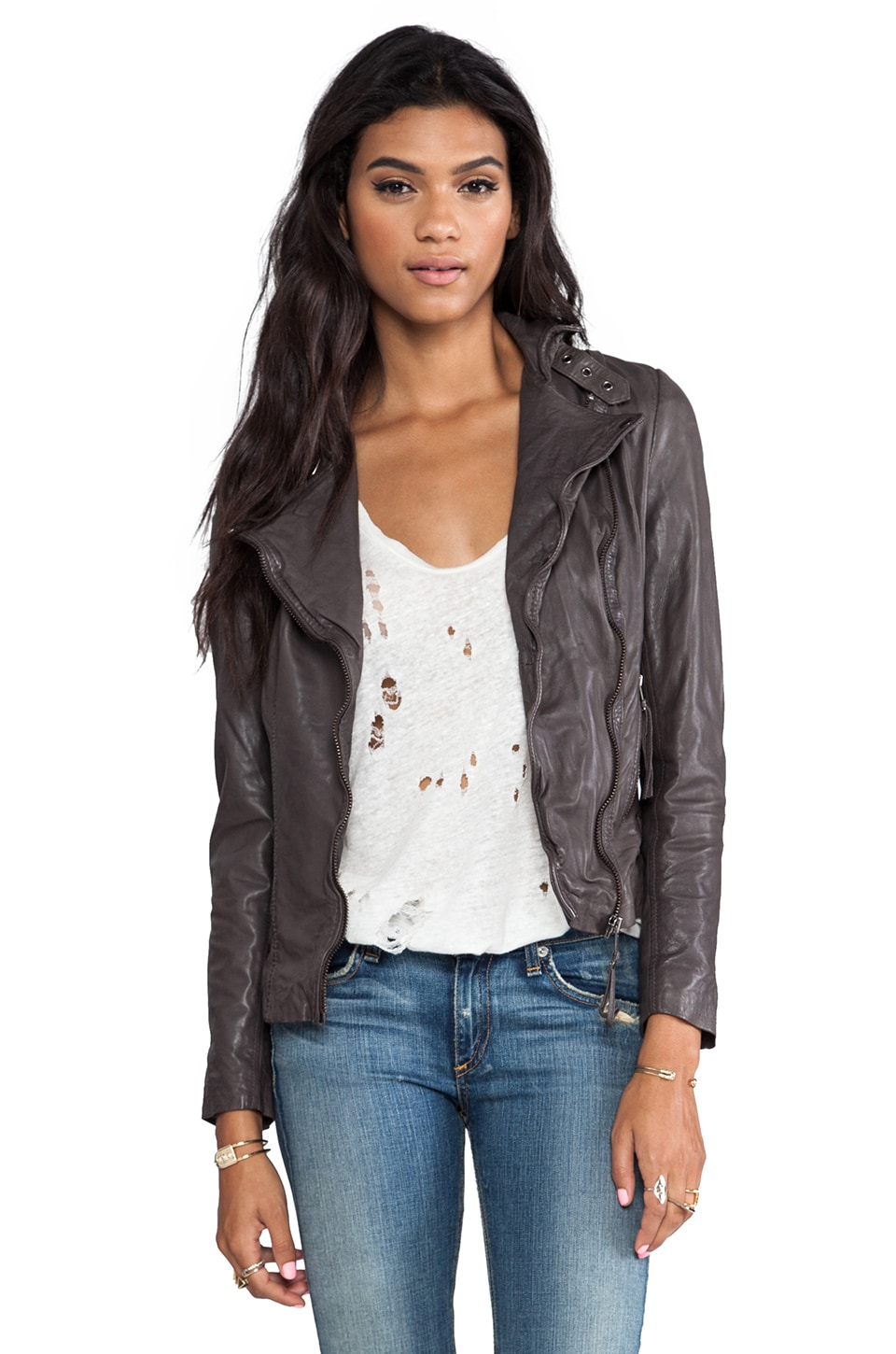 Muubaa Reval Jacket in Hard Grey
