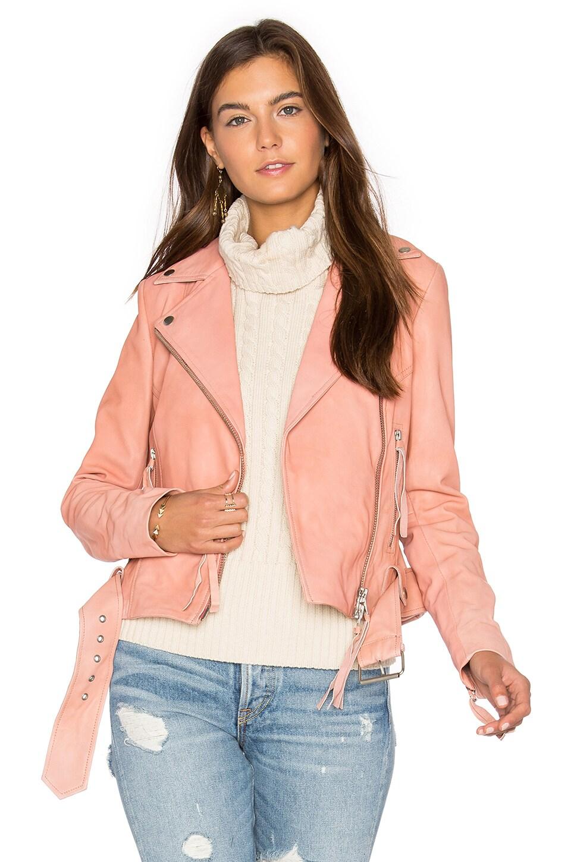 Muubaa Holmedale Biker Jacket in Sedona Pink
