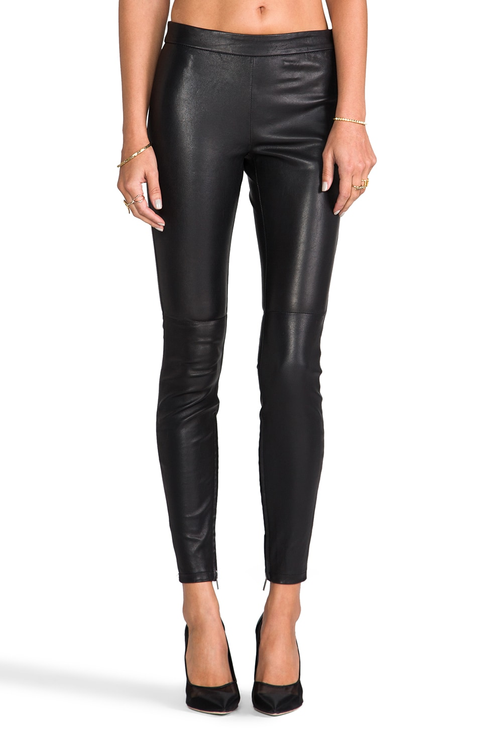 Muubaa Rica Stretch Leather Legging in Black