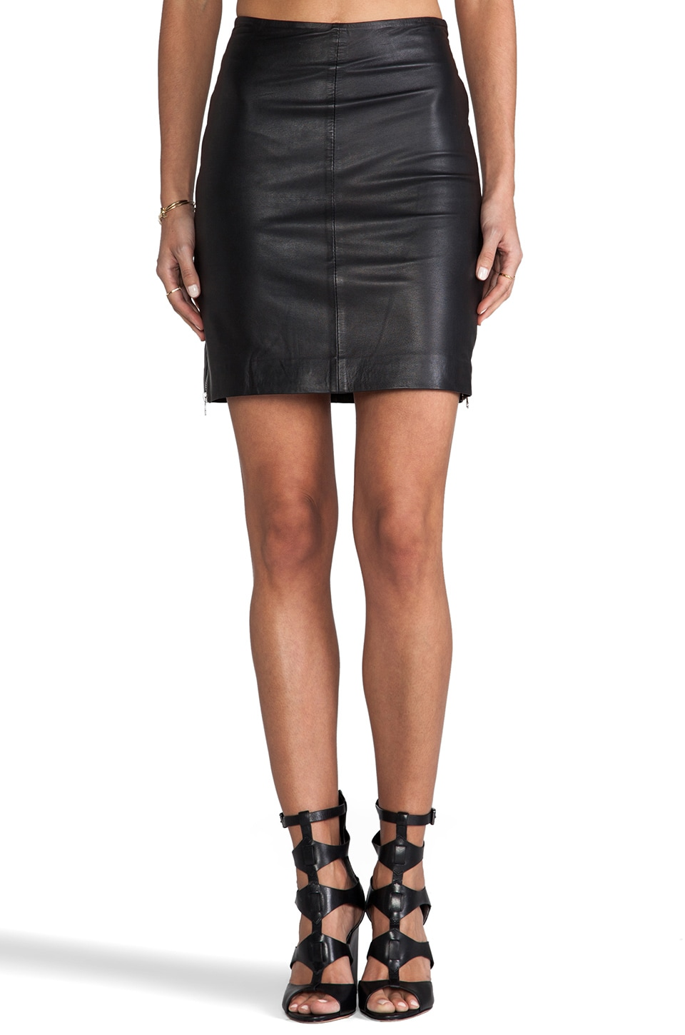 Muubaa Dani Pencil Skirt in Black