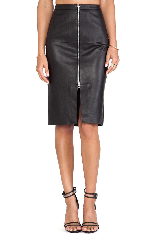 Muubaa Saon Midi Skirt in Black