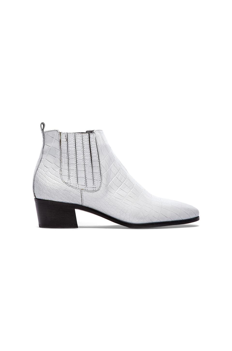 MODERN VICE COLLECTION Handler Boot in White Croc