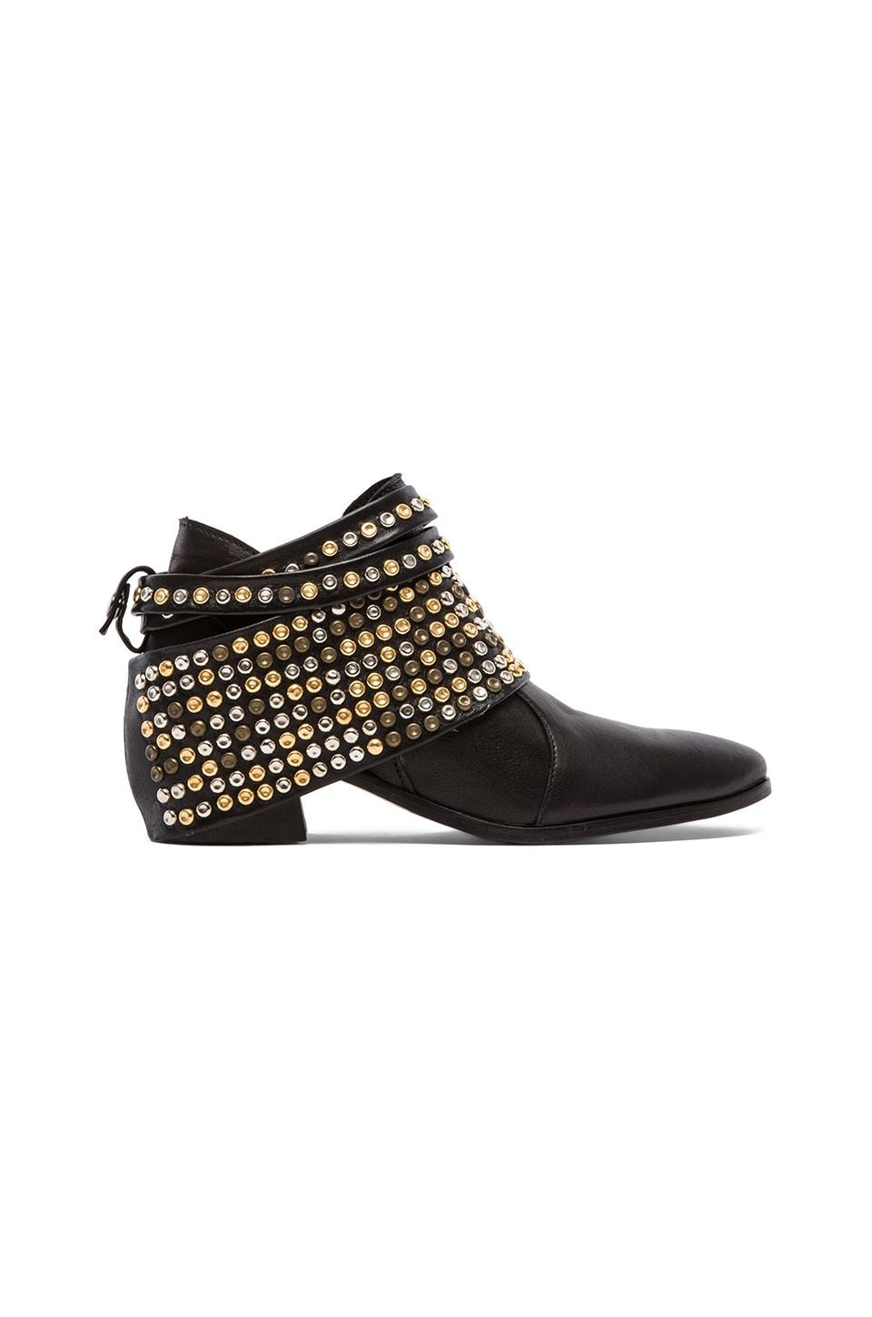 MODERN VICE COLLECTION Chloe Studded Removable Hardware Bootie in Black