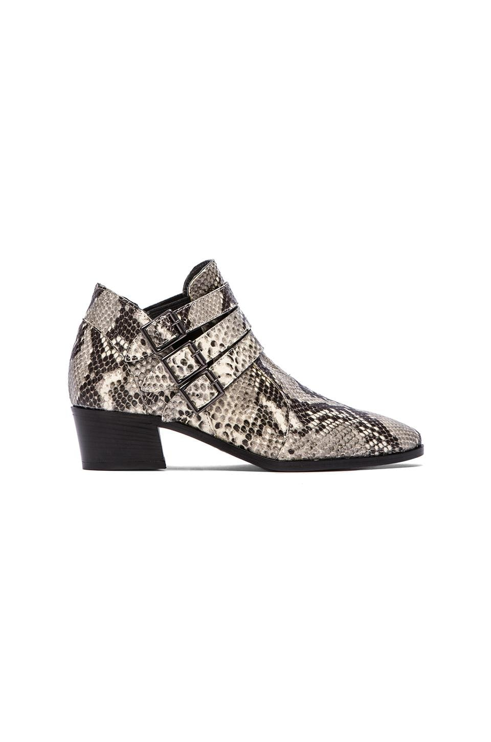 MODERN VICE COLLECTION Chloe Embossed Boot in White Snake