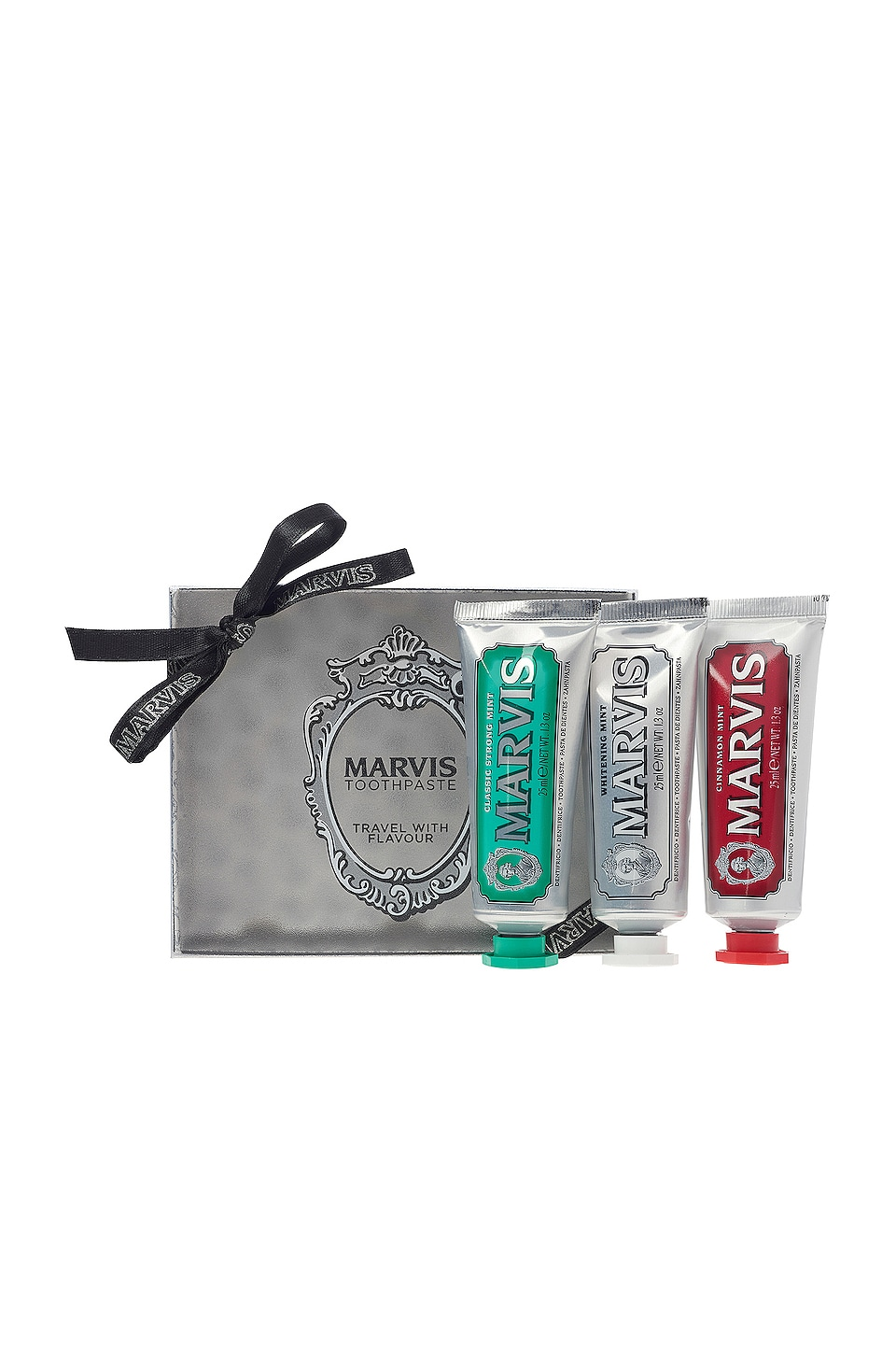 Marvis Travel with Flavour Set in Classic, Whitening & Cinnamon