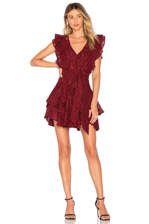 Marissa Webb Corrine Lace Dress in Ruby