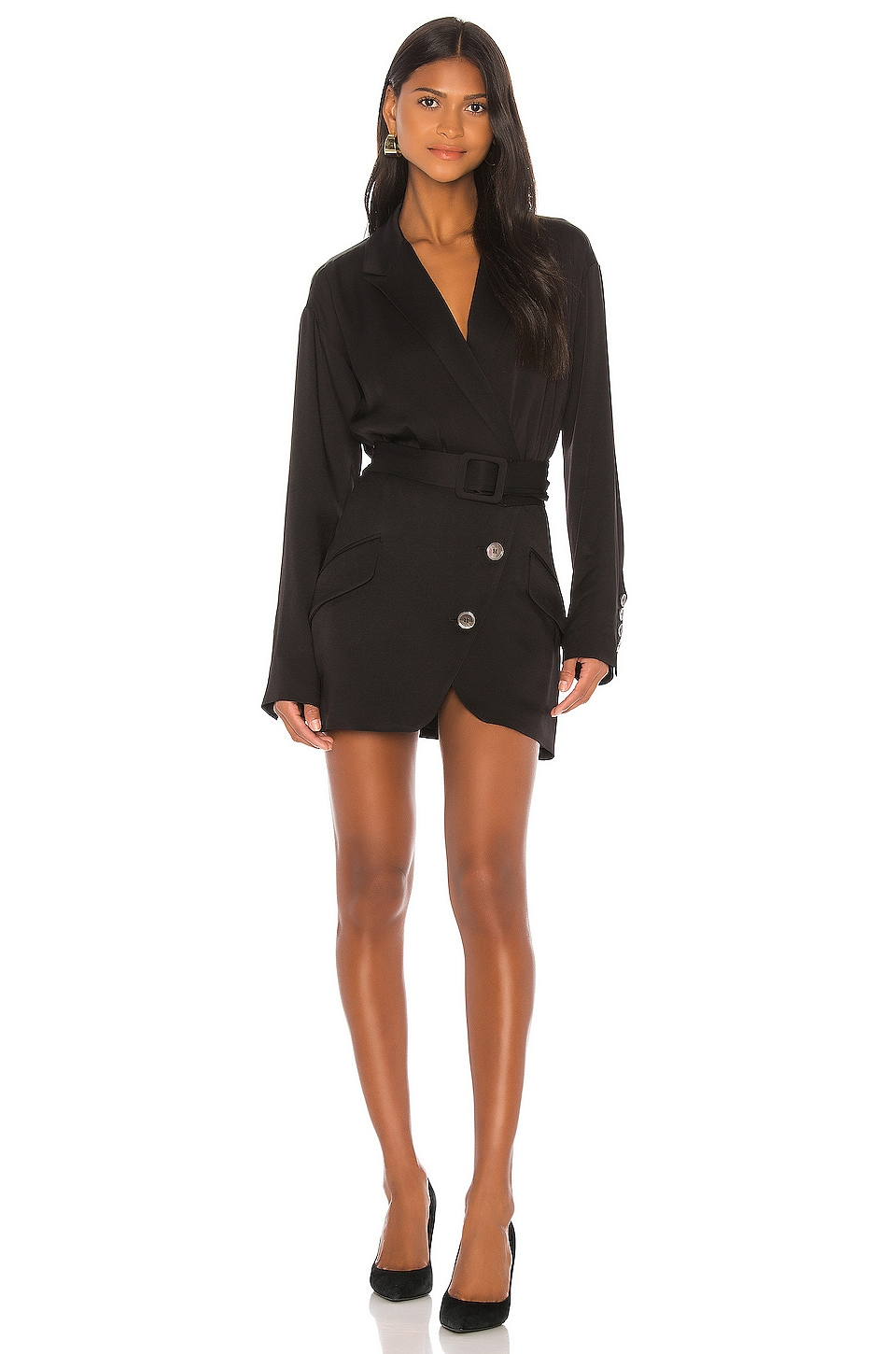 Marissa Webb Cyrus Suit Dress in Black