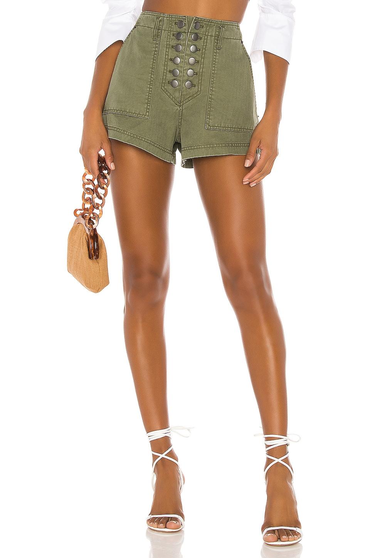 Marissa Webb Stellan Shorts in Military Green